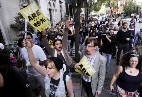 Image: Occupy Wall Street and others march in wealthy neighborhood of New York City