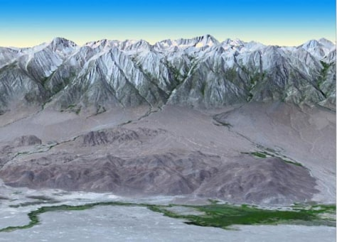 Image: Mt. Whitney shown on map