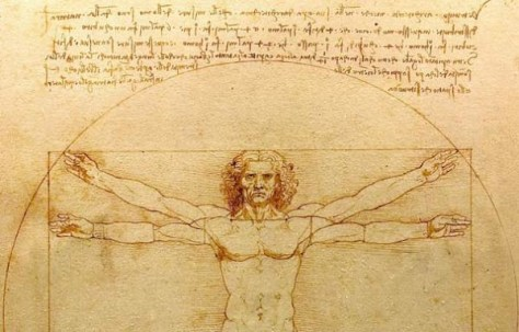 Image: Drawing of The Vitruvian Man