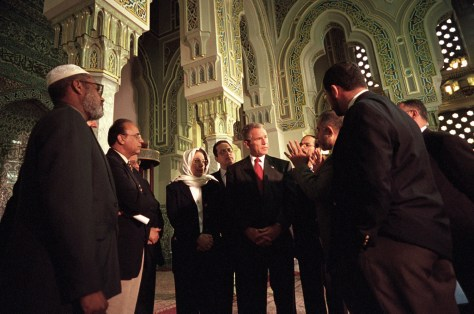 Image: President George W. Bush meets with Muslim leaders in 2001