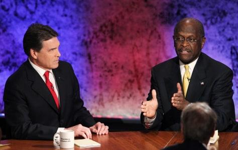 Image: Rick Perry, Herman Cain