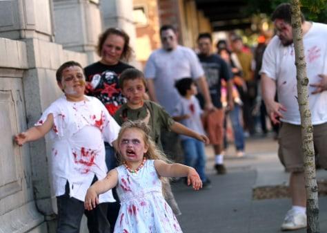 """Image: """"Zombie Walk"""" in Petaluma, Calif."""