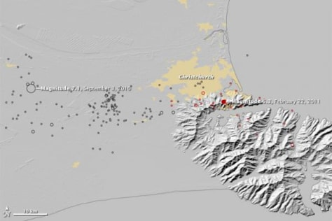 Image: Initial magnitude of New Zealand quake