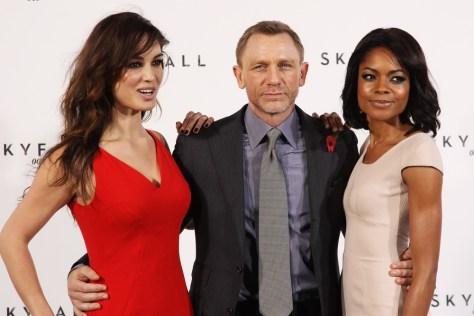 Image: Berenice Marlohe, Daniel Craig and Naomie Harris