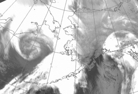 Image: Satellite view of storm
