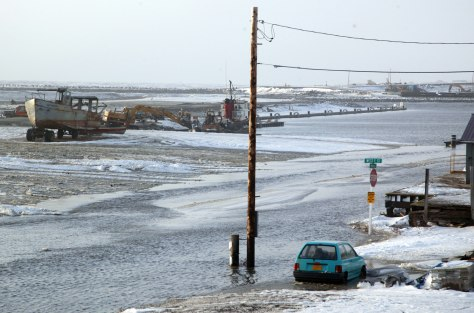 Image: Nome, Alaska streets covered in water