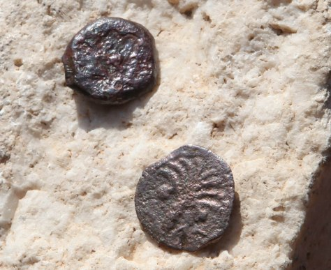 Image: Two ancient bronze coins