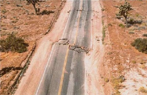 Image: Road after earthquake