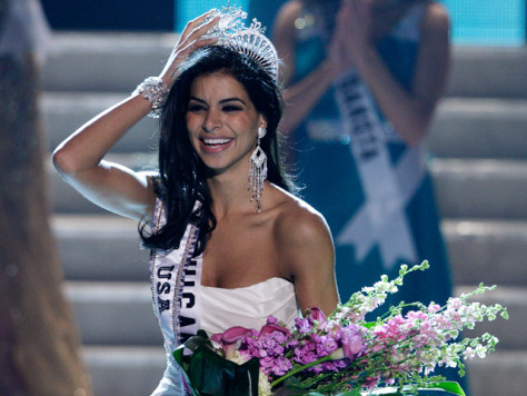 Image: Miss Michigan Rima Fakih reacts after being crowned Miss USA during the 2010 Miss USA pageant in Las Vegas