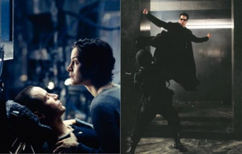 "Image: Scenes from ""The Matrix"""