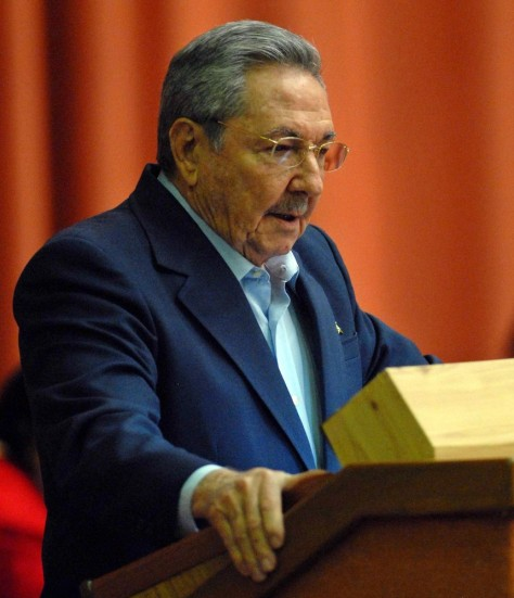 Image: Raul Castro addresses the National Assembly's last session of the year.