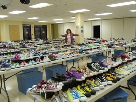Image: Penny Gold with her Converse collection