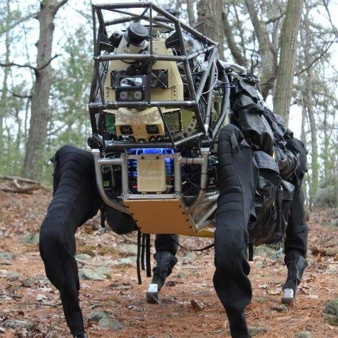 Yellow Big Dog Boston Dynamics