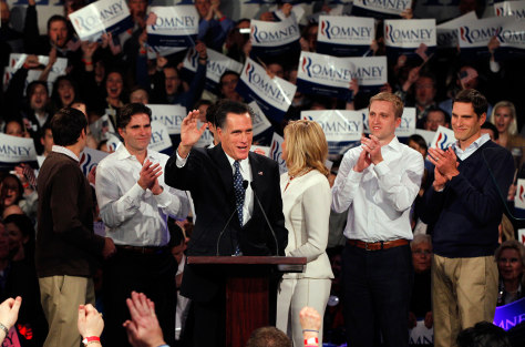 Image: Mitt Romney and his family
