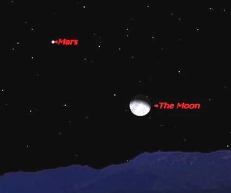 Image: Moon and Mars