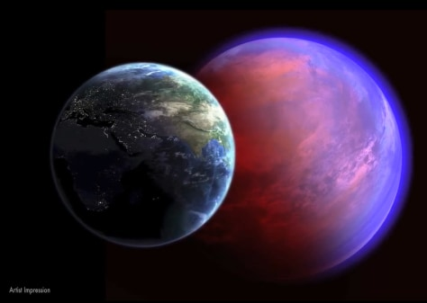 Image: Artist's impression of the alien planet 55 Cancri e