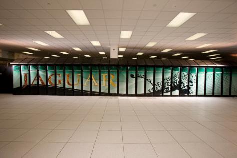 "Image: The ""Jaguar"" supercomputer"