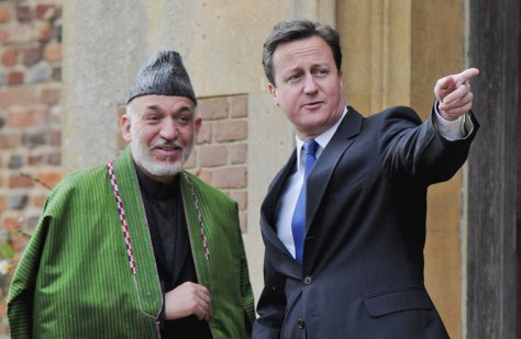 Image: Cameron and Karzai