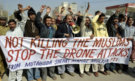 Image: A protest against U.S. drone attacks, in Multan, Pakistan