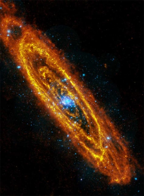 composite image of Andromeda galaxy