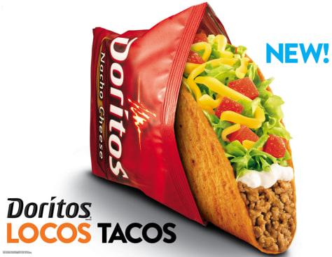 Image: Taco Bell Doritos taco ad