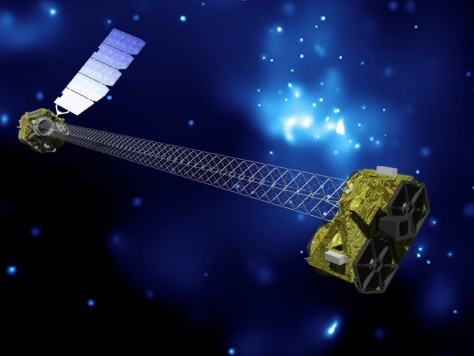 Image: Artist's concept of NuSTAR on orbit.