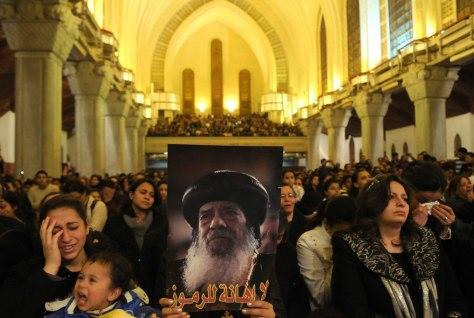 Image: Mourning Pope Shenouda III