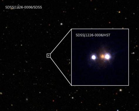 Image: Composite image, quasar