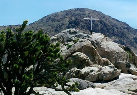 "Image: The ""Mojave Cross"""
