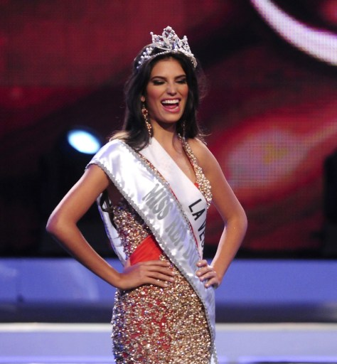 Image: Carlina Duran, 25, reacts after winning the Miss Universe Dominican Republic 2012 pageant in Santo Domingo