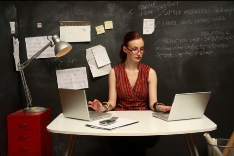 Image: Woman at a desk