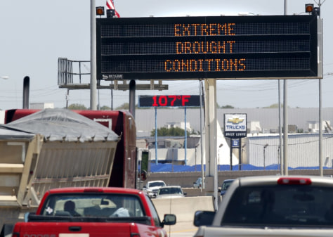 Image: Drought sign in Texas