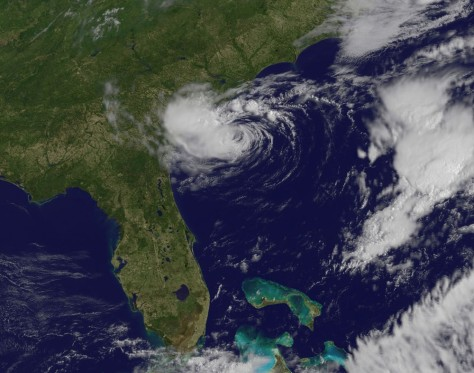 Image: Satellite image of Alberto