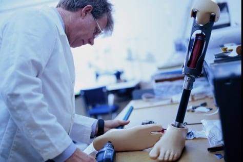 Image: Prosthetics technician