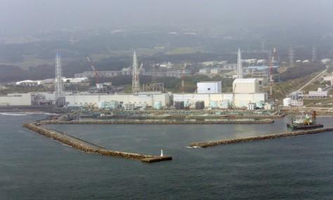 Image: Aerial of tsunami-damaged Fukushima nuclear plant