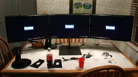 Image: Three monitors