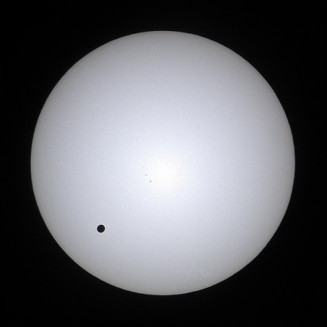 Image: Venus' silhouette as it crosses face of sun