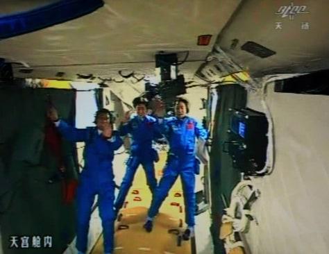 Image: Inside Tiangong 1
