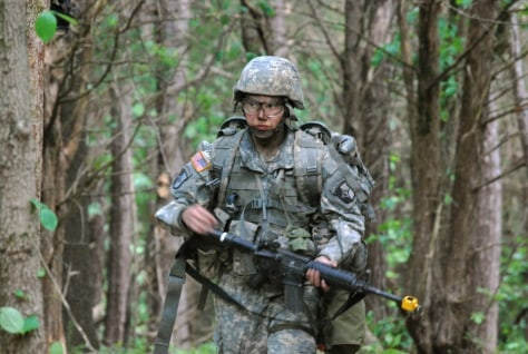 Image: Capt. Sara Rodriguez at Fort Campbell, Ky.