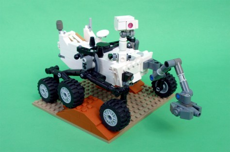 Image: LEGO version of Mars rover Curiosity