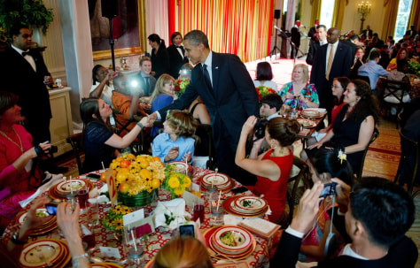 Image: US-POLITICS-OBAMA-KIDS STATE DINNER