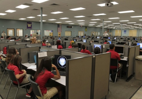 Image: Classroom at Carpe Diem school