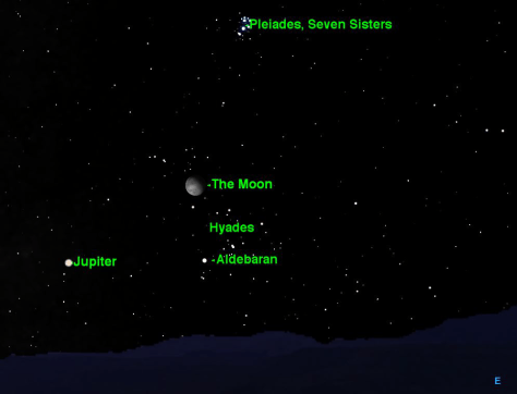 Image: Map of moon in fall sky Oct. 4, 2012