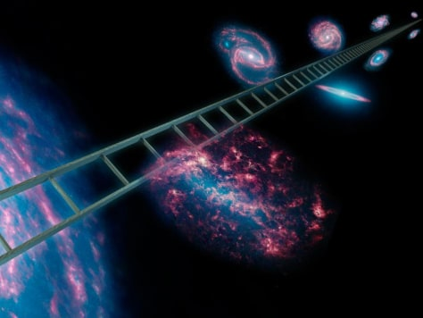 Image: Cosmic distance ladder