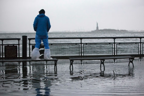Image: Flooding in Battery Park