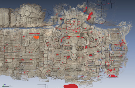 Image:Tracing of an artistic representation of Maya sun god