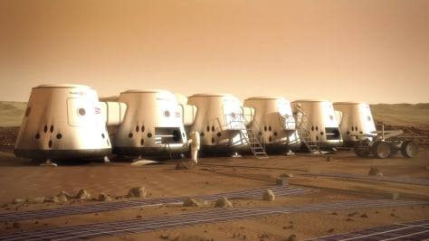 Image: Artist's depiction of Mars One astronauts