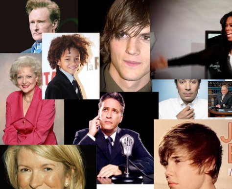 Image: Celebrity collage