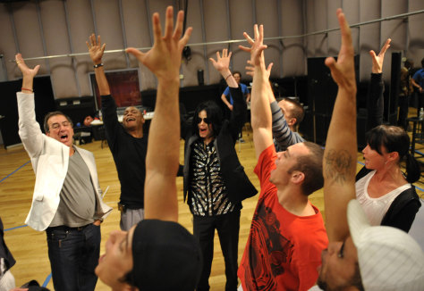 Image: Michael Jackson rehearses for London show