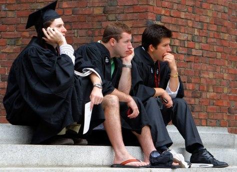 Image: College graduates